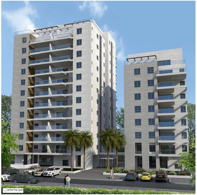 תל אביב בניין חדש עם מעלית ומרפסת שמש, תל אביב