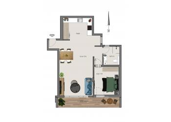 דירה למכירה 2 חדרים 1,650,000₪